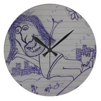 風変りな人の時計 ラージ壁時計
