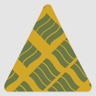 風変りな波のステッカー 三角形シール