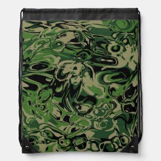 風変りな緑 ナップサック