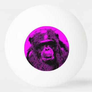 風変りな芸術-ピンクの(c)チンパンジー 卓球ボール