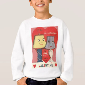 風変わりでおもしろいなランプライトハートのバレンタイン スウェットシャツ