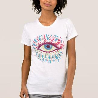 風変わりで青くサイケデリックな目 Tシャツ