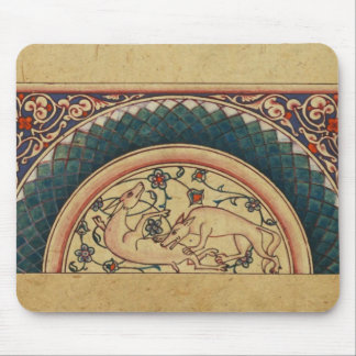 風変わりで、美しい中世原稿 マウスパッド