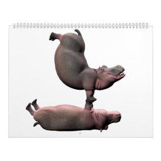 風変わりなカバ カレンダー