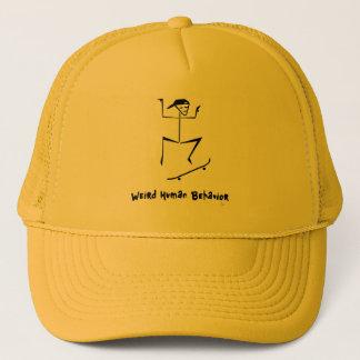風変わりな人間行動のスケートボーダーのトラック運転手の帽子 キャップ