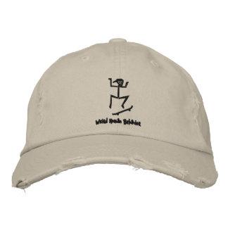 風変わりな人間行動のスケートボーダーの動揺してな帽子 刺繍入りキャップ