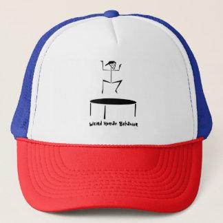 風変わりな人間行動のトランポリンのトラック運転手の帽子 キャップ