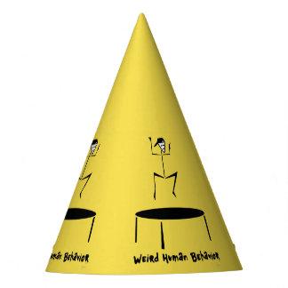 風変わりな人間行動のトランポリンのパーティーの帽子 パーティーハット