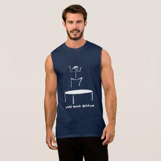 風変わりな人間行動のトランポリンの袖なしのTシャツ 袖なしシャツ