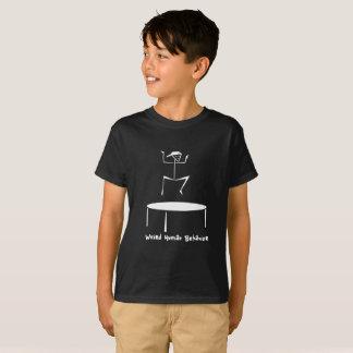風変わりな人間行動のトランポリンはTシャツをからかいます Tシャツ