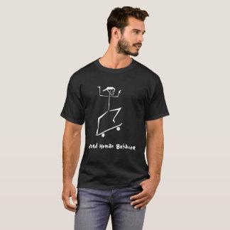 風変わりな人間行動の暗いTシャツ-スケートボーダー Tシャツ