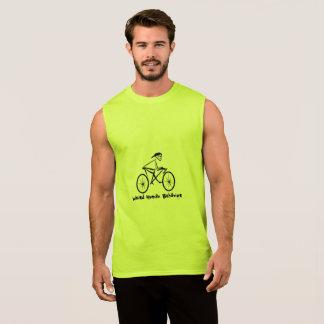 風変わりな人間行動の競輪選手の袖なしのTシャツ 袖なしシャツ