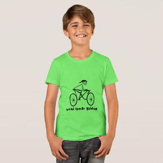 風変わりな人間行動の自転車は乗組員のTシャツをからかいます Tシャツ