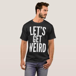 風変わりな文字のタイポグラフィのTシャツを得よう Tシャツ