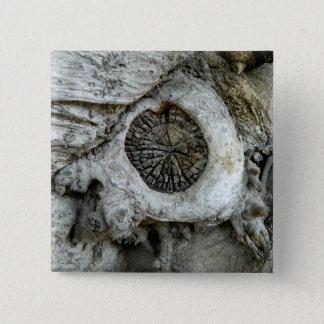風変わりな木の抽象芸術の丸型 5.1CM 正方形バッジ