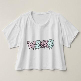 風変わりな穀物の上W/Sleeves Tシャツ