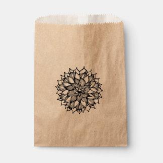 風変わりな花の落書きの芸術 フェイバーバッグ