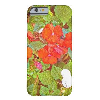 風変わりな赤い花 BARELY THERE iPhone 6 ケース