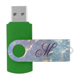 風変わりな静かの技術 のモノグラムの水彩画のパステル USBフラッシュドライブ