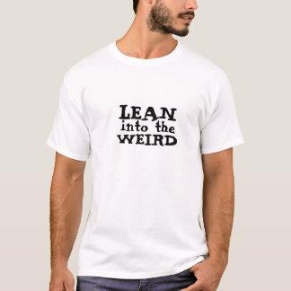 風変わりのに傾かせて下さい Tシャツ