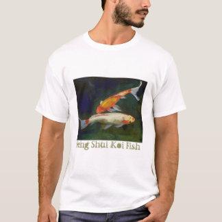 風水のコイの魚のTシャツ Tシャツ