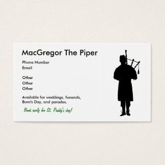 風笛吹奏者の名刺 名刺
