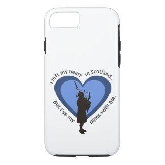 風笛吹奏者の電話箱: Iスコットランドの私のハートを残しました iPhone 8/7ケース