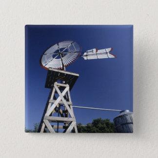 風見鶏および水漕、サン・アントニオ、テキサス州、 5.1CM 正方形バッジ
