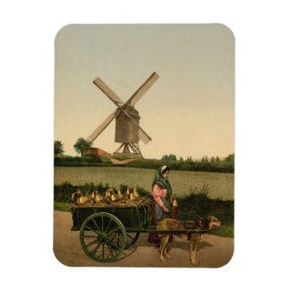 風車およびミルクの販売人 マグネット