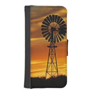 風車および日没のウィリアムの入り江、Oodnadatta iPhoneSE/5/5sウォレットケース