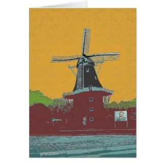 風車のゴッホのオランダのスタイル カード