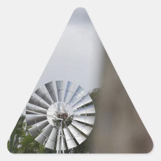 風車のサザンクロス田園オーストラリア 三角形シール