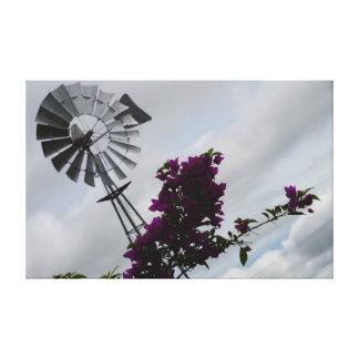 風車のサザンクロス田園クイーンズランドオーストラリア キャンバスプリント