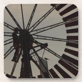 風車のシルエットの飲み物のコースターセット コースター