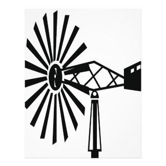 風車のシルエット レターヘッド