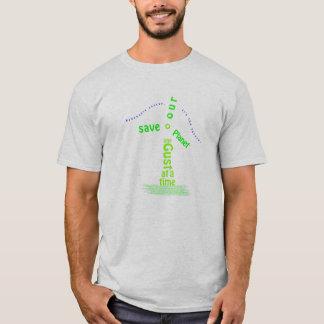 風車のタイポグラフィ Tシャツ