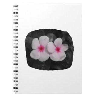 風車のピンクの円の花の切り出し ノートブック