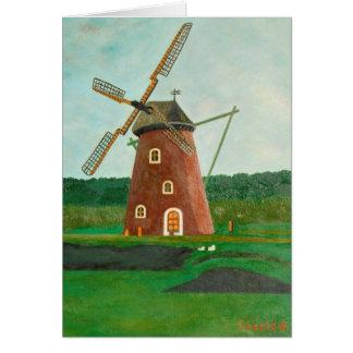 風車のメッセージカード カード