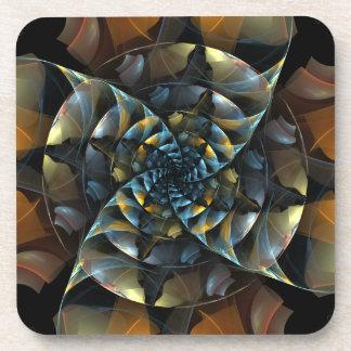 風車の抽象美術のコルクのコースター コースター