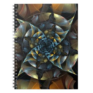 風車の抽象美術のノート ノートブック