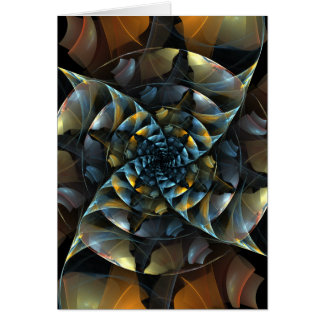 風車の抽象美術のメッセージカード カード