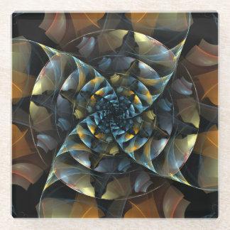 風車の抽象美術 ガラスコースター