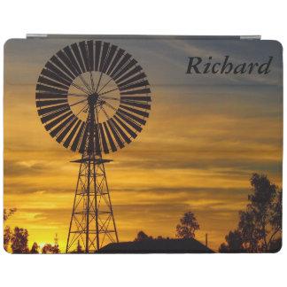 風車の日没のIPadオーストラリアのカバー iPadスマートカバー