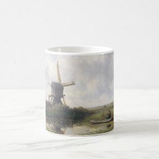 風車の景色-ウィレムRoelofs コーヒーマグカップ
