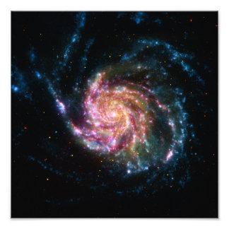 風車の銀河系の螺線形の宇宙 フォトプリント