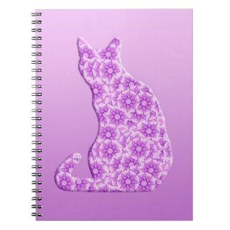 風車猫-紫色ラベンダー ノートブック