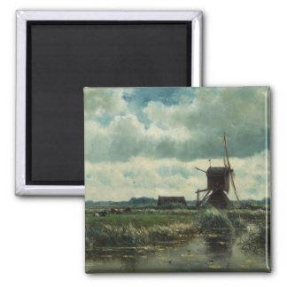 風車、ウィレムRoelofsとの干拓の景色 マグネット