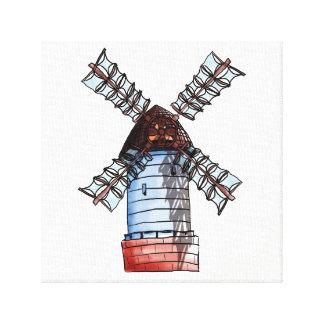 風車 キャンバスプリント