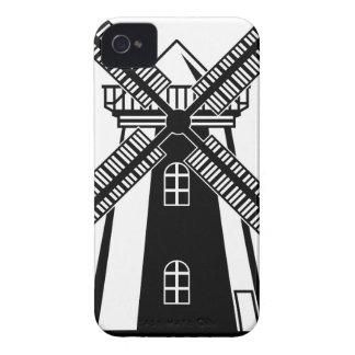 風車B/Wのベクトル Case-Mate iPhone 4 ケース