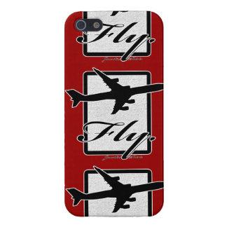 """""""飛ばして下さい""""飛行機のiPhone 5の光沢のある箱(トップセラー)を iPhone SE/5/5sケース"""
